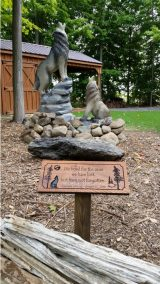 Chainsaw Carved Wolf Dedication
