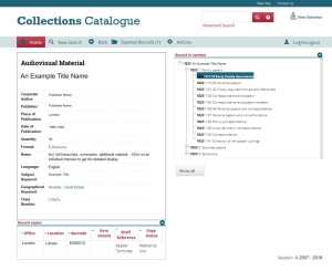 Archive Collections Screenshot of Soutron Software