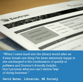 MS Society Feedback about Soutron