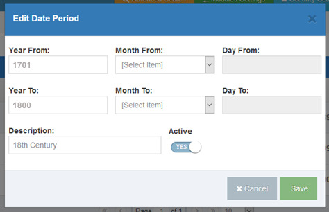 Edit your Descriptive Date Period