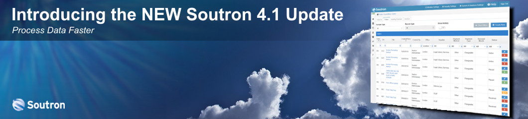 Introducing the NEW Soutron 4.1 Software Update