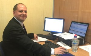 Graham Partridge visiting clients on site!