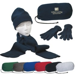 Hat Scarf and Glove Set with carry bag