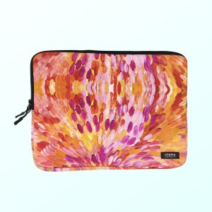 Neoprene laptop sleeve by Gloria Petyarre