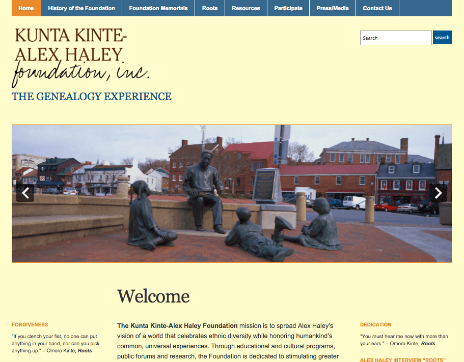 kinte haley website