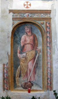 Affresco Santa Caterina d'Alessandria