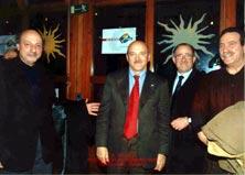 Antonio Brescia e Eugenio Tarantino con al centro il segretario generale nazionale della UIL Luigi Angeletti