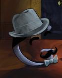 Hercule Poirot, così interpretato nel logo di Google che celebra Agatha Christie