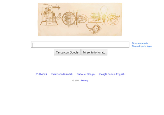 Google Doodle Thomas Edison
