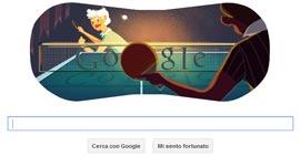 Google Doodle - Londra 2012: Ping Pong o Tennis Tavolo