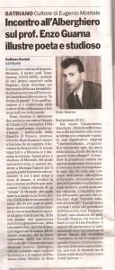 Enzo Guarna - Gazzetta del Sud, art. di R.Ranieri