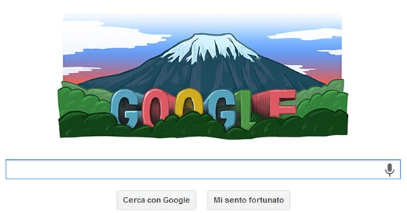 Google Doodle- Monte Fuji