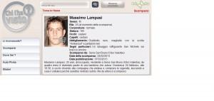 Massimo Lampasi scheda Chi l'ha visto