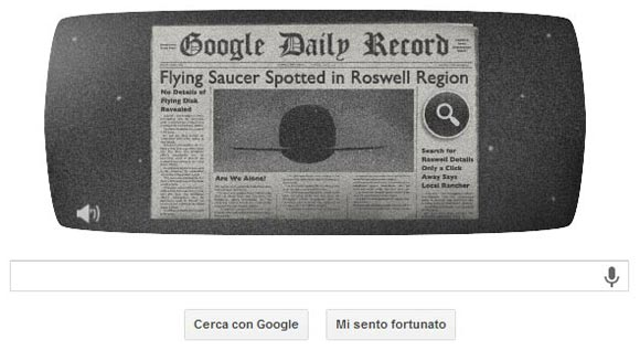 Incidente di Roswell - Google Doodle