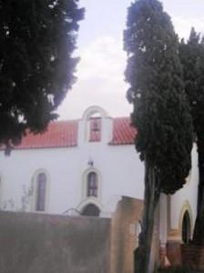 esterno cappella cimitero di Rodi