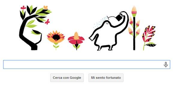 Equinozio di Primavera - Google Doodle