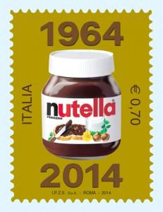 francobollo 50° anniversario Nutella