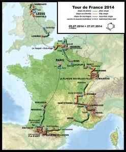 Mappa Tour de France 2014 - (fonte Wikipedia)