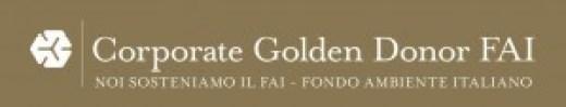 corporate bianco su oro