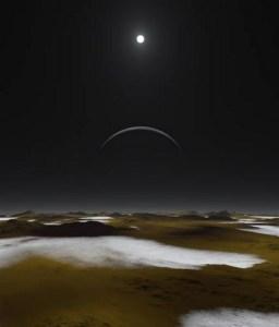 Cielo di Plutone - simulazione (fonte Nasa)