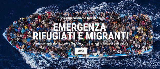 emergenza migranti pagina google