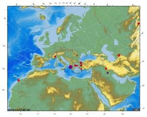 Immagine EMSC - terremoto in viola