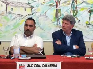Cestaro in Calabria in occasione sciopero Rai