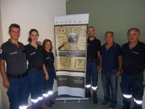 I volontari ANC Catanzaro con il vicepresidente ANC Iuliano