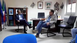 Sopralluogo del presidente della Provincia di Catanzaro, Enzo Bruno, a Palermiti