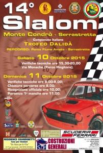 Serrastretta – Domenica 11 ottobre 2015 il 14° Slalom del Monte Condrò