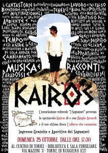 """Torre di Ruggiero – Domenica 25 ottobre lo spettacolo """"Kairos"""" di Biagio Accardi"""