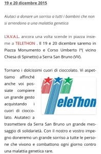 Serra San Bruno – La solidarietà scende in piazza con Aval, Telethon e Babbo Natale