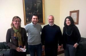 Lo chef Luigi Ferraro fa visita al presidente della Camera di Commercio di Cosenza, Klaus Algieri