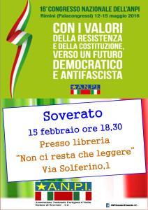 Lunedì 15 febbraio l'ANPI di Soverato celebra il suo primo congresso