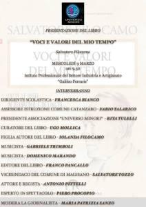 """L'associazione """"Universo Minori"""" il 9 Marzo presenterà il libro di Salvatore Filocamo"""