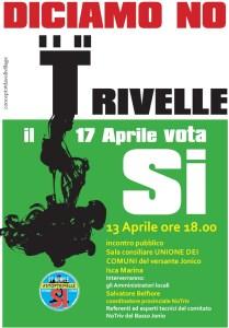 Mercoledì 13 aprile incontro del Comitato No Triv Basso Jonio a Isca Marina