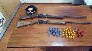 Sequestrati 2 fucili e cartucce nella periferia sud di Catanzaro