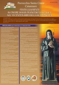 Catanzaro – Al via i festeggiamenti in onore di San Francesco di Paola