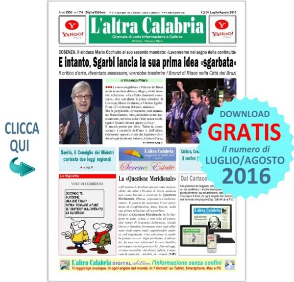 L'ALTRA CALABRIA - Prima Pagina
