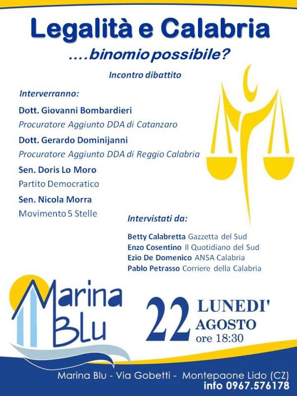 Calabria e Legalità locandina