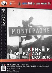 """Montepaone – Dal 6 al 20 Agosto """"La Biennale del bianco e nero 2016"""""""