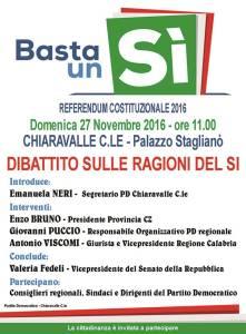 Chiaravalle – Manifestazione del Circolo Pd sul referendum costituzionale
