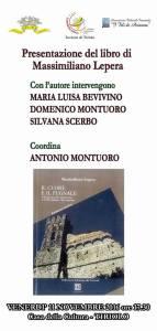 """Tiriolo – Venerdì 11 novembre presentazione del libro di Massimiliano Lepera """"Il cuore e il pugnale"""""""