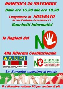 Iniziative di informazione sulle ragioni del No alla Riforma Costituzionale