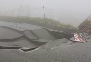 Maltempo – Crolla una strada a Girifalco
