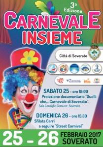 Soverato – Rinviata a domenica 5 marzo la sfilata di Carnevale