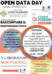 """Open Data Day del Liceo Scientifico statale """"A. Guarasci"""" Soverato"""