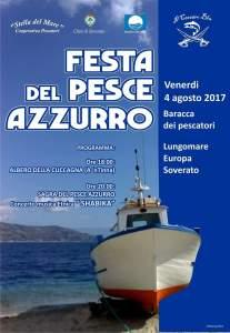 """Soverato – Venerdì 4 Agosto la """"Festa del pesce azzurro"""""""