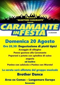 """Soverato – Domenica 20 Agosto """"Caramante in Festa"""""""