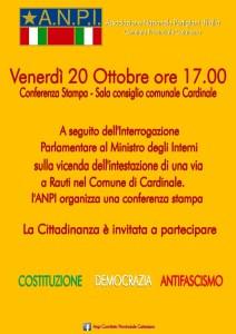 Cardinale – Conferenza stampa del Comitato Provinciale dell'ANPI di Catanzaro